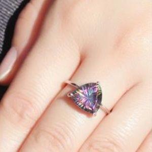 New - Kendra Rainbow Fire Mystic Topaz Ring